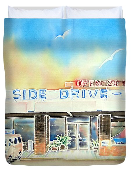 Sea Side Drive In Duvet Cover