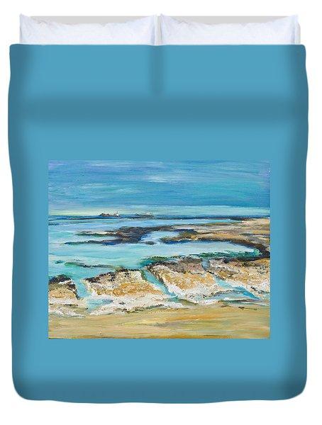 Sea Sky And Beach Duvet Cover