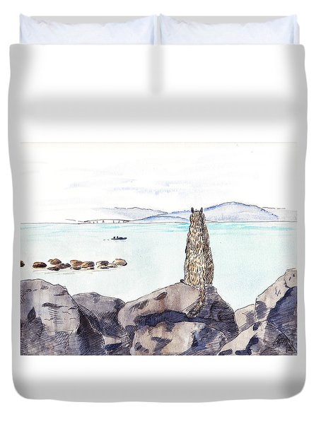 Sea Squirrel Duvet Cover