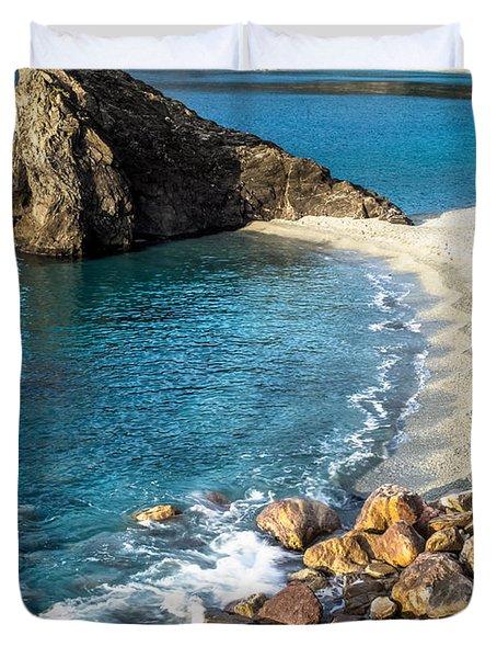 Sea Stack Of Monterosso Duvet Cover