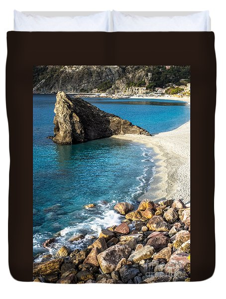 Sea Stack Of Monterosso Duvet Cover