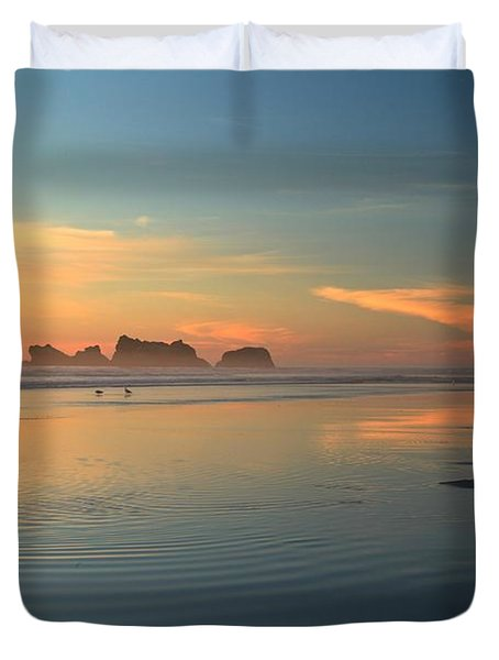 Sea Stack Photographer Duvet Cover by Adam Jewell