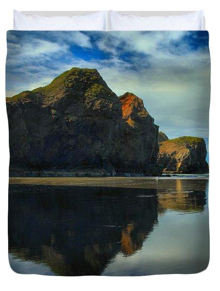 Sea Stack Swirls Duvet Cover by Adam Jewell