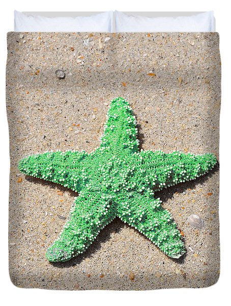 Sea Star - Green Duvet Cover by Al Powell Photography USA
