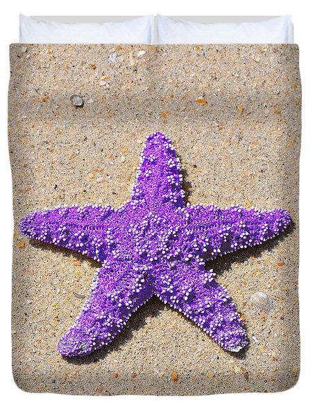 Sea Star - Purple Duvet Cover by Al Powell Photography USA