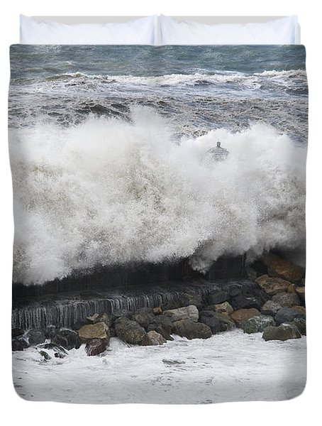 Sea Storm  Duvet Cover by Antonio Scarpi