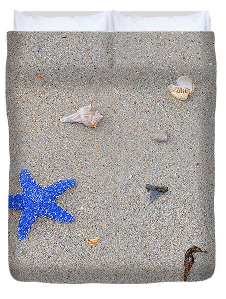 Sea Swag - Dark Blue Duvet Cover by Al Powell Photography USA