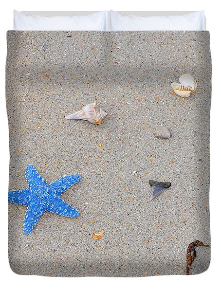 Sea Swag - Light Blue Duvet Cover by Al Powell Photography USA