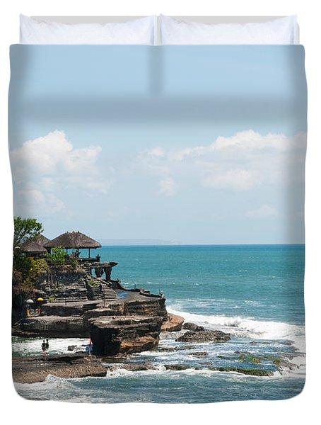 Sea Temple, Tanah Lot Temple, Tanah Duvet Cover