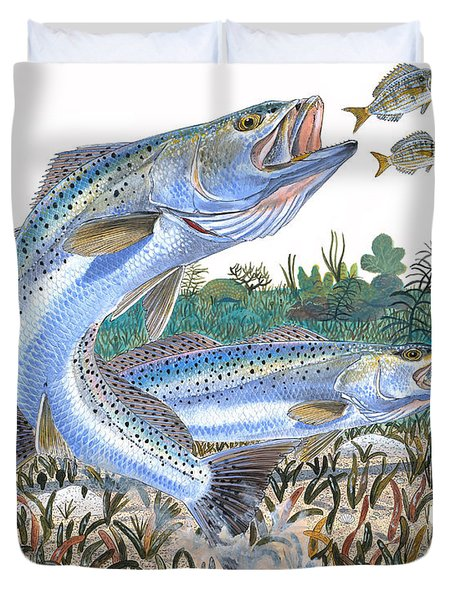Sea Trout Duvet Cover by Carey Chen