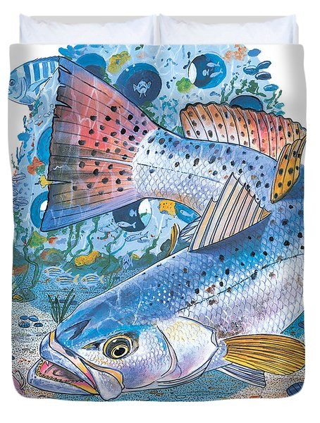 Sea Trout Wreck Duvet Cover by Carey Chen