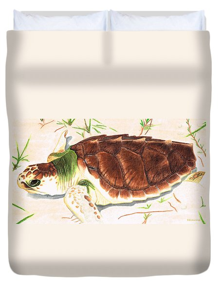 Sea Turtle Art By Sharon Cummings Duvet Cover by Sharon Cummings