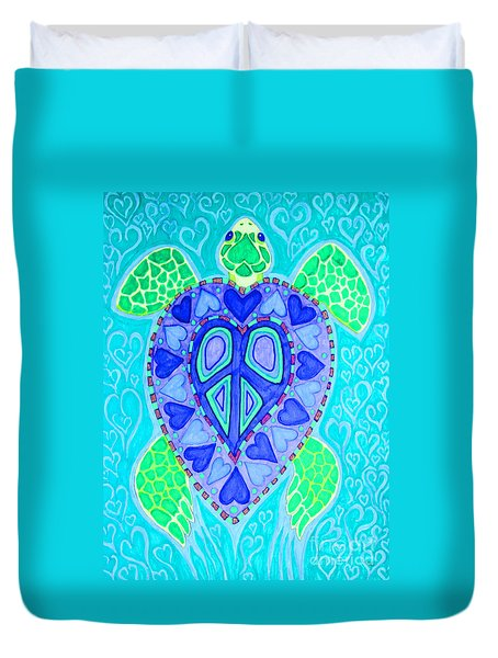 Sea Turtle Swim Duvet Cover