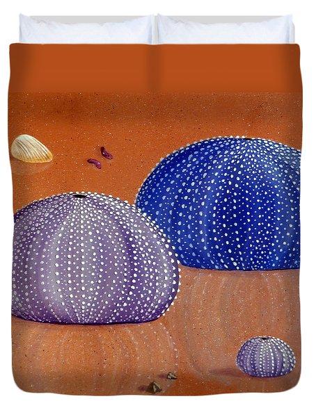 Sea Urchins On The Beach Duvet Cover