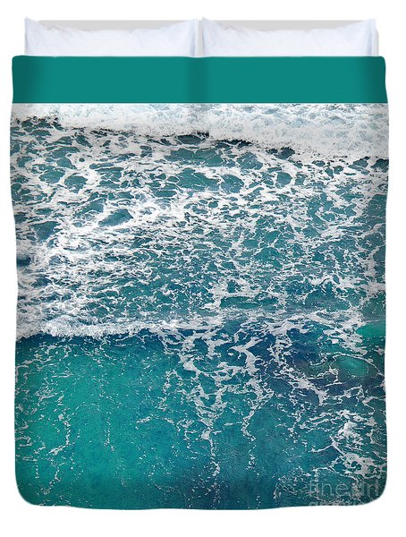 Duvet Cover featuring the photograph Sea View by Liz  Alderdice