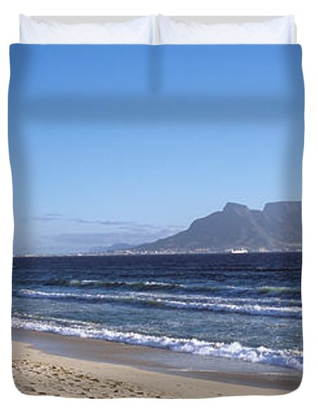 Sea With Table Mountain Duvet Cover