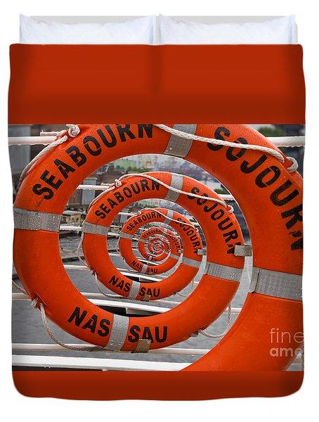 Seabourn Sojourn Spiral. Duvet Cover