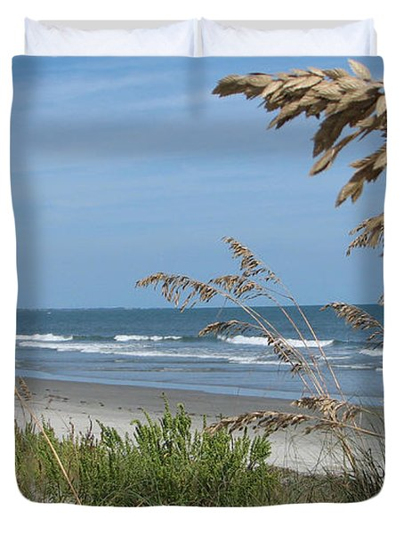Seabrook Sc Beach Duvet Cover