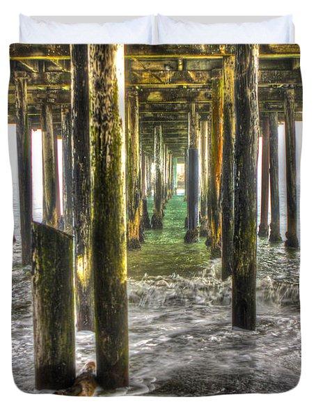 Seacliff Pier Duvet Cover