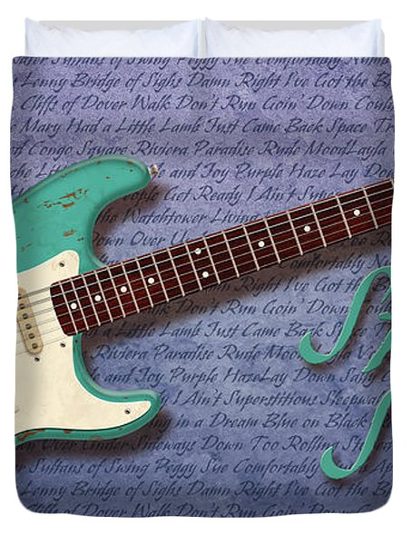 Seafoam Strat Songs  Duvet Cover