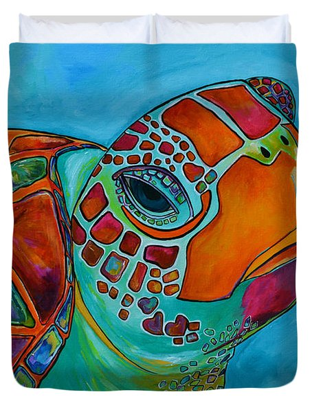 Seaglass Sea Turtle Duvet Cover