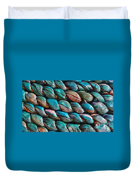 Seagrass Blue Duvet Cover by Linda Bianic