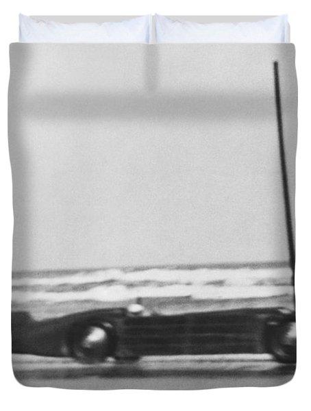 Seagrave's Golden Arrow Car Duvet Cover