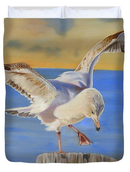 Seagull Ballet Duvet Cover by Phyllis Beiser