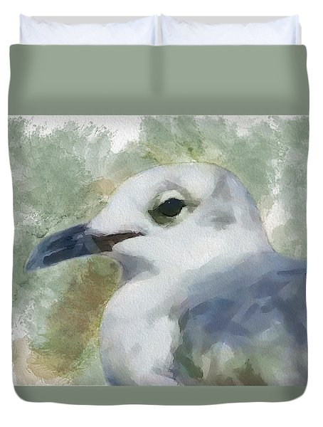 Seagull Closeup Duvet Cover by Greg Collins