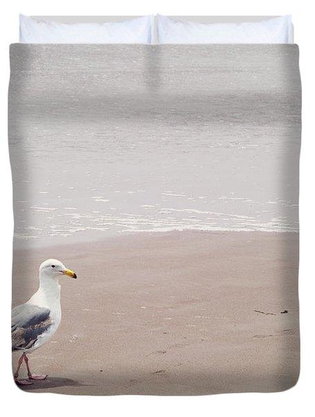 Seagull Strolling Duvet Cover