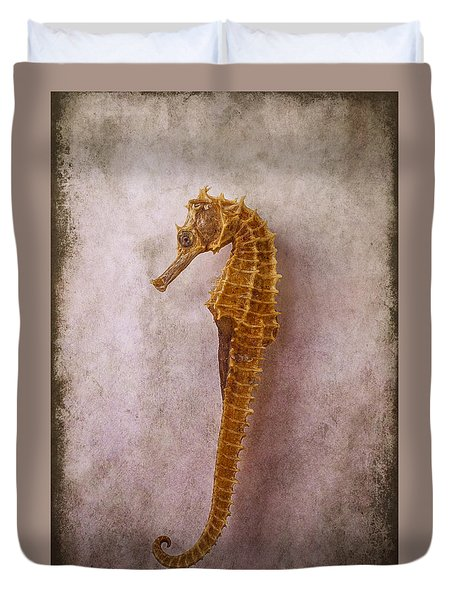 Seahorse Still Life Duvet Cover