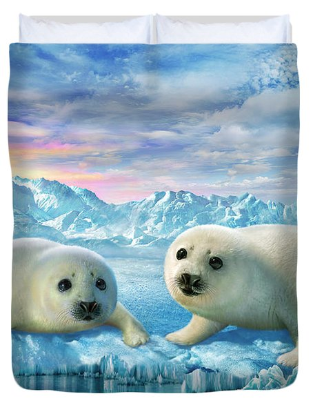 Seal Pups Duvet Cover by Adrian Chesterman