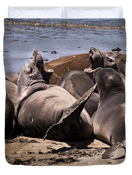 Seal Team 3 By Denise Dube Duvet Cover