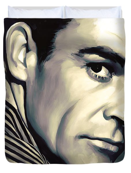 Sean Connery Artwork Duvet Cover by Sheraz A