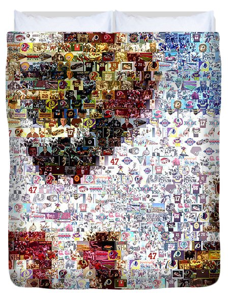 Sean Taylor Mosaic Duvet Cover by Paul Van Scott