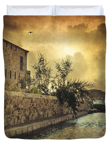 Searching The Past Duvet Cover by Taylan Apukovska