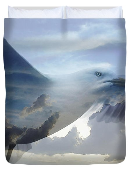 Searching The Sea - Seagull Art By Sharon Cummings Duvet Cover by Sharon Cummings