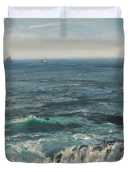Seascape 1877 Duvet Cover by Henry Moore