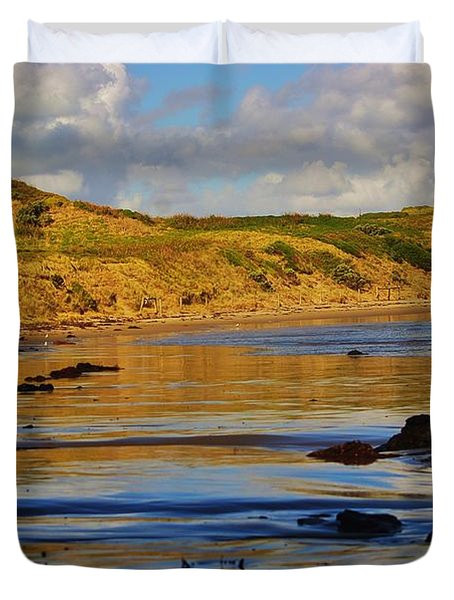 Seascape At Phillip Island Duvet Cover by Blair Stuart