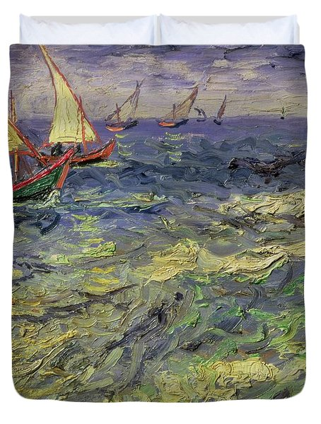 Seascape At Saintes-maries 1888 Duvet Cover by Vincent van Gogh