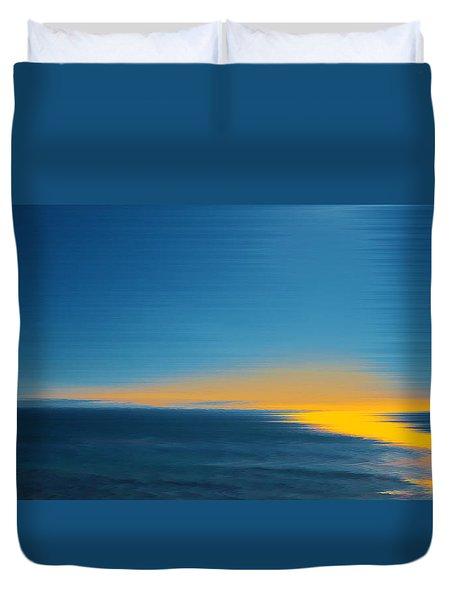 Seascape At Sunset Duvet Cover by Ben and Raisa Gertsberg