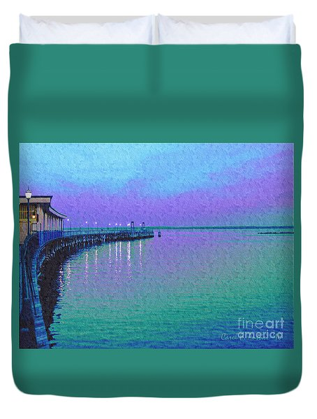 Painterly Seascape Purple Flurry Duvet Cover