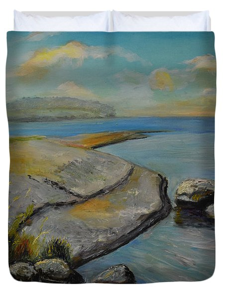 Seascape From Hamina 1 Duvet Cover