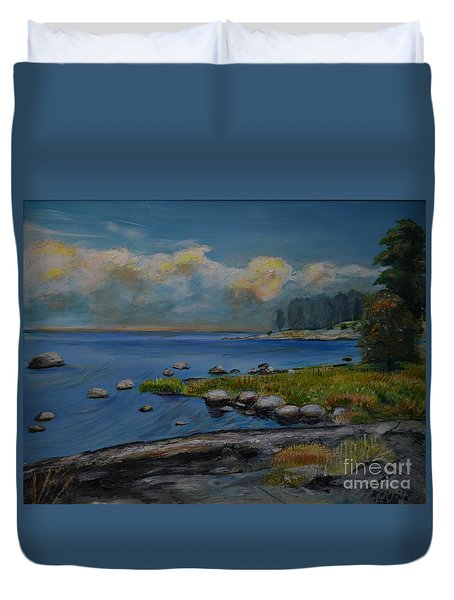 Seascape From Hamina 2 Duvet Cover