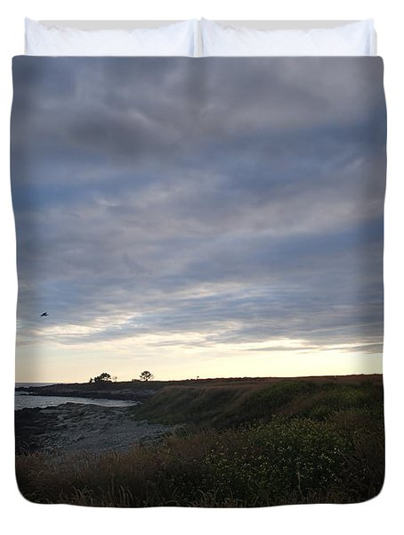 Duvet Cover featuring the photograph Seascape by Robert Nickologianis