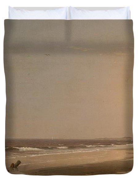 Seascape Duvet Cover by William Trost Richards