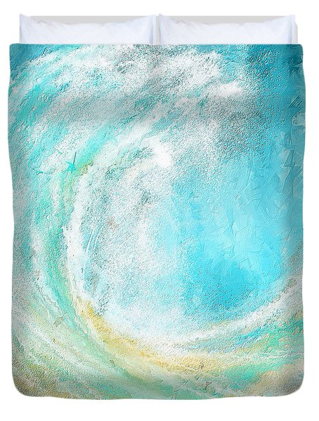 Seascapes Abstract Art - Mesmerized Duvet Cover by Lourry Legarde