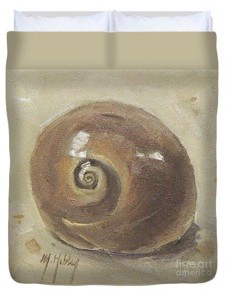Seashell Beach Moon Shell Snail  Duvet Cover