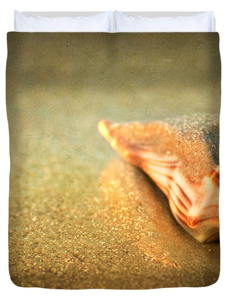 Duvet Cover featuring the photograph Seashell by Joye Ardyn Durham