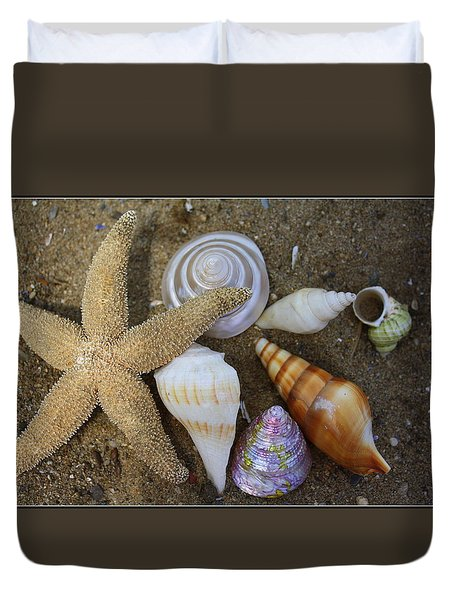 Seashells And Star Fish Duvet Cover